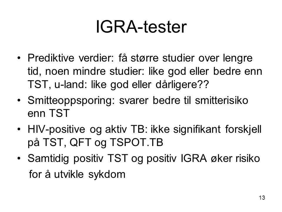 IGRA-tester