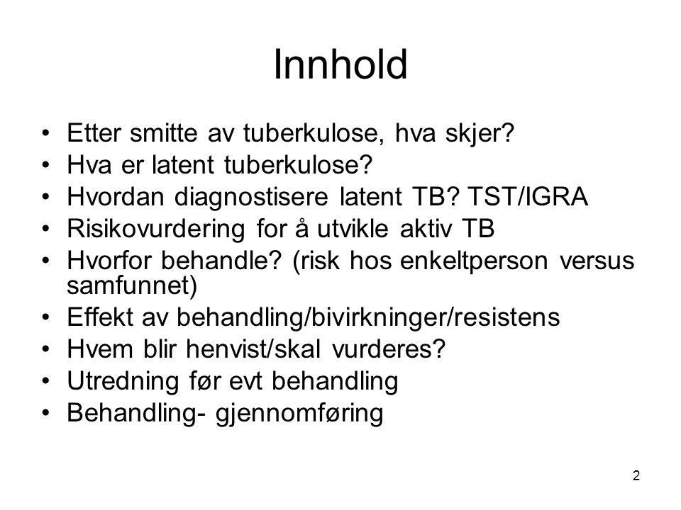 Innhold Etter smitte av tuberkulose, hva skjer