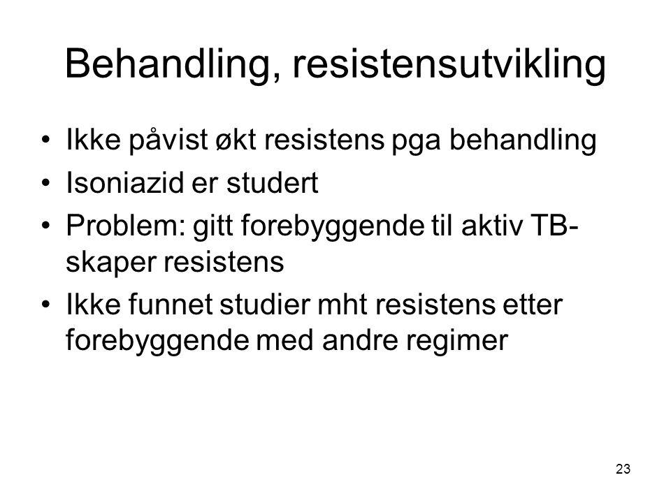Behandling, resistensutvikling