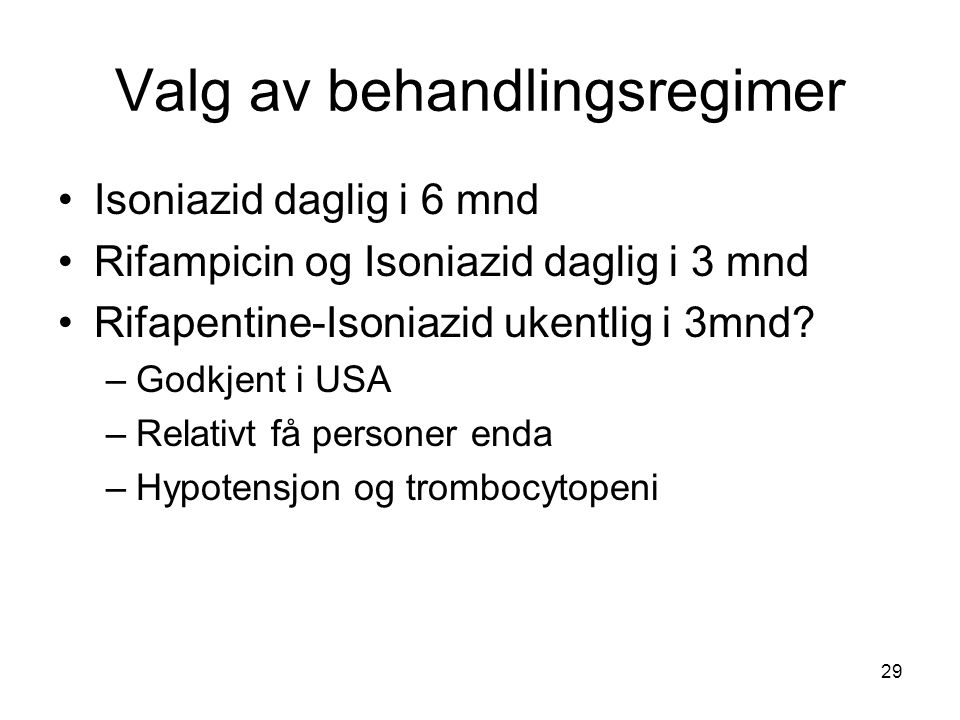 Valg av behandlingsregimer