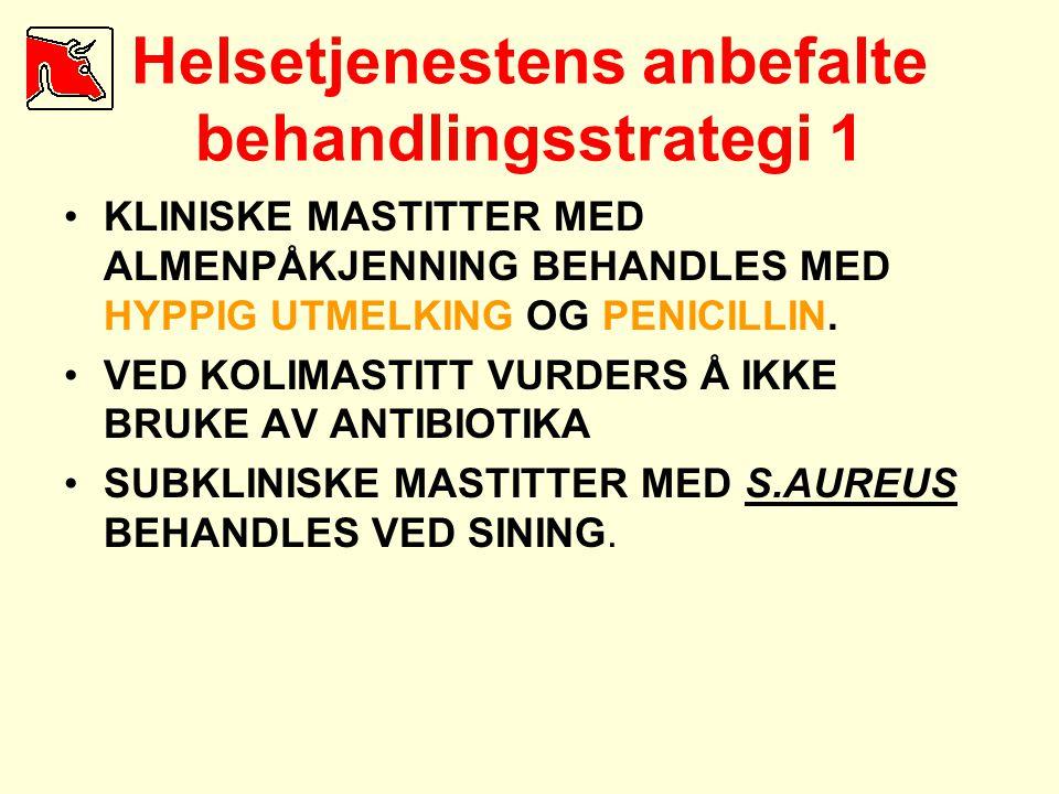 Helsetjenestens anbefalte behandlingsstrategi 1