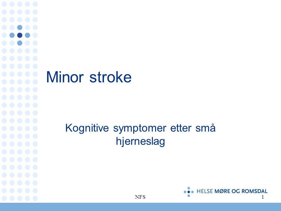 Kognitive symptomer etter små hjerneslag