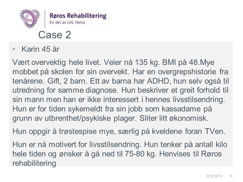 Case 2 Karin 45 år.