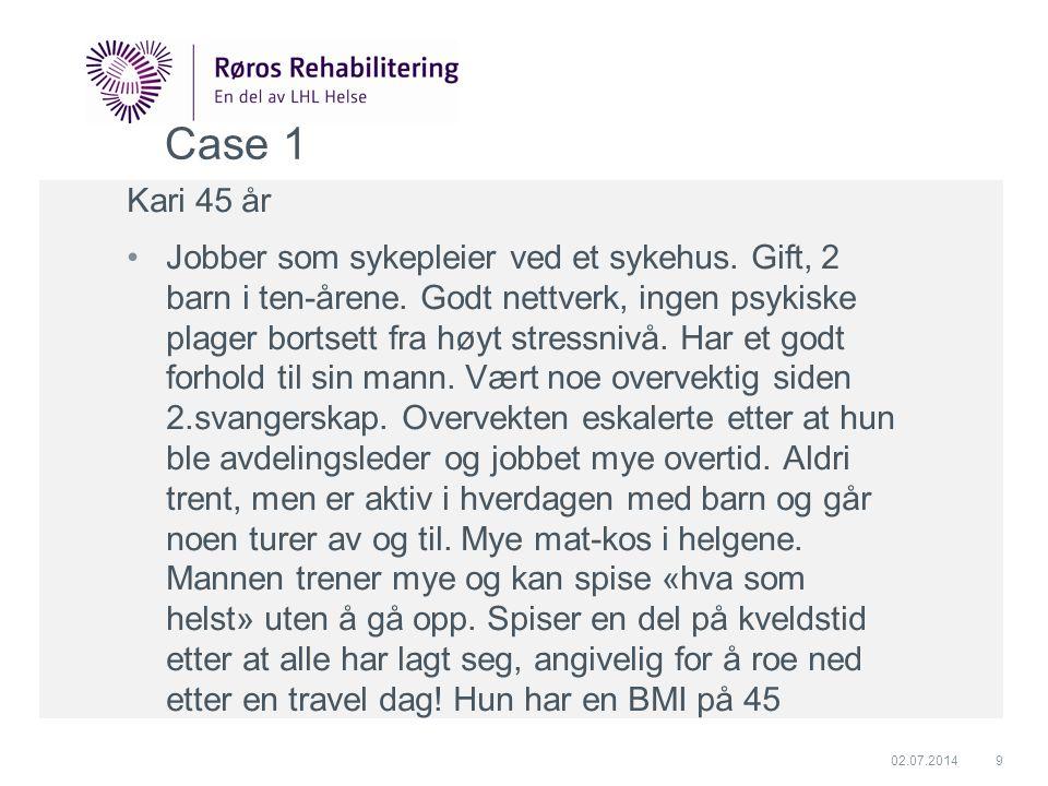 Case 1 Kari 45 år.