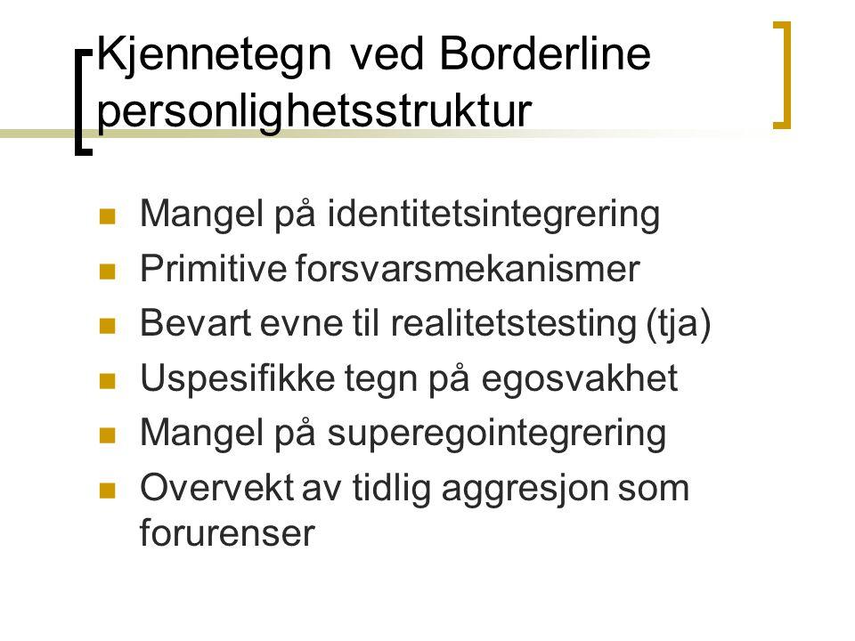 Kjennetegn ved Borderline personlighetsstruktur