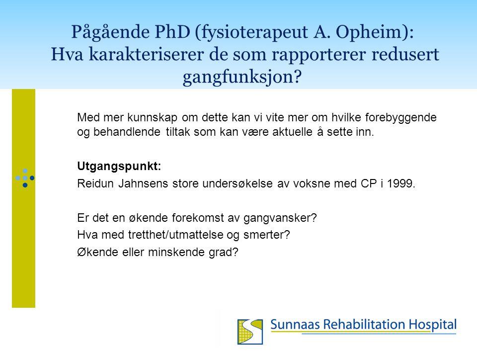 Pågående PhD (fysioterapeut A