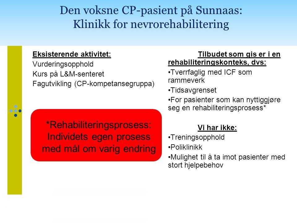 Den voksne CP-pasient på Sunnaas: Klinikk for nevrorehabilitering