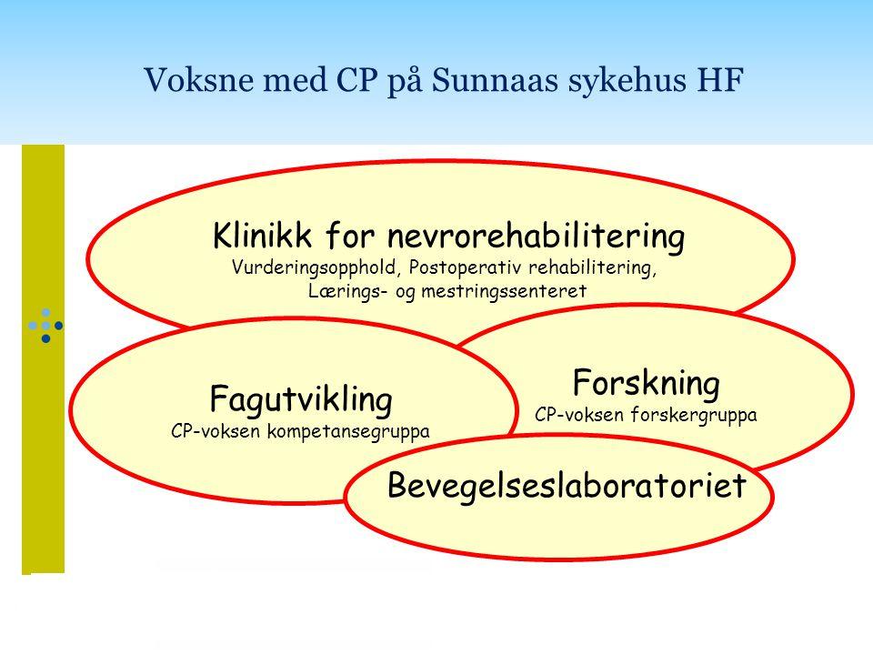 Voksne med CP på Sunnaas sykehus HF