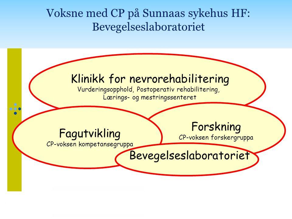 Voksne med CP på Sunnaas sykehus HF: Bevegelseslaboratoriet