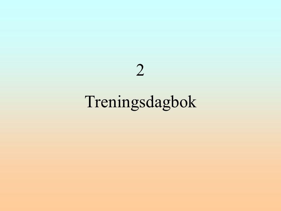 2 Treningsdagbok