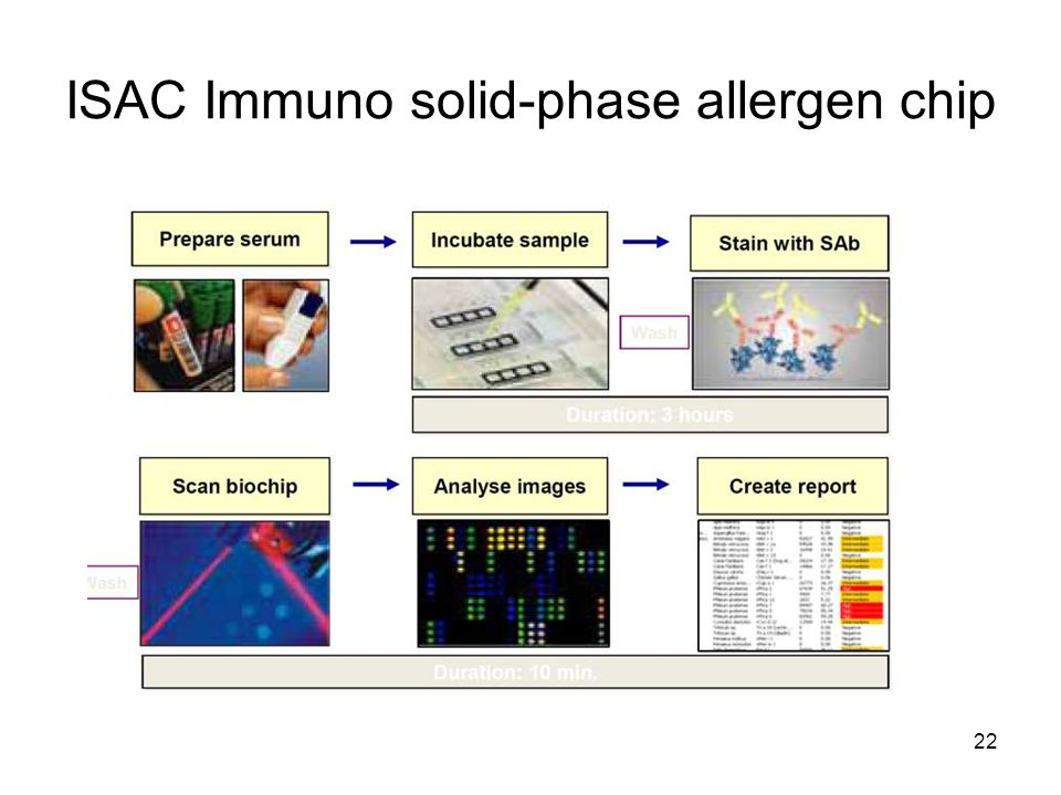 ISAC Immuno solid-phase allergen chip