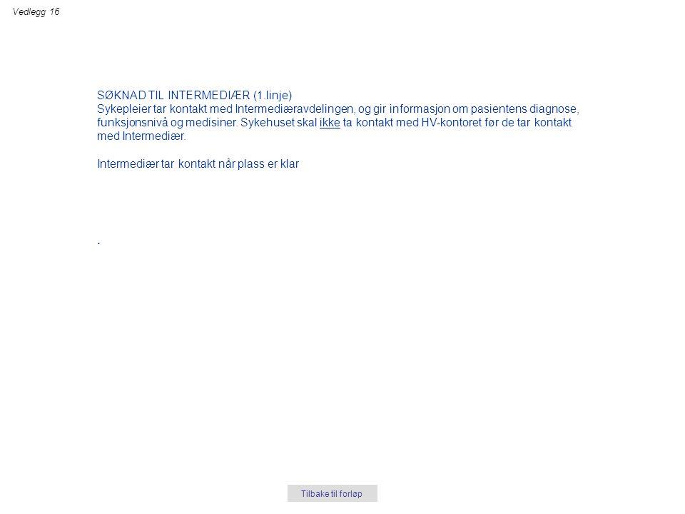 . SØKNAD TIL INTERMEDIÆR (1.linje)