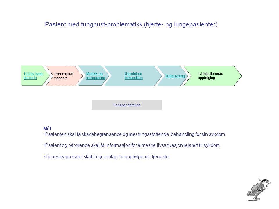 Pasient med tungpust-problematikk (hjerte- og lungepasienter)