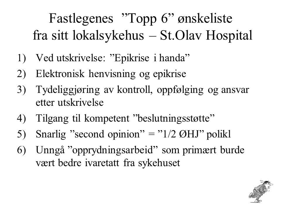 Fastlegenes Topp 6 ønskeliste fra sitt lokalsykehus – St