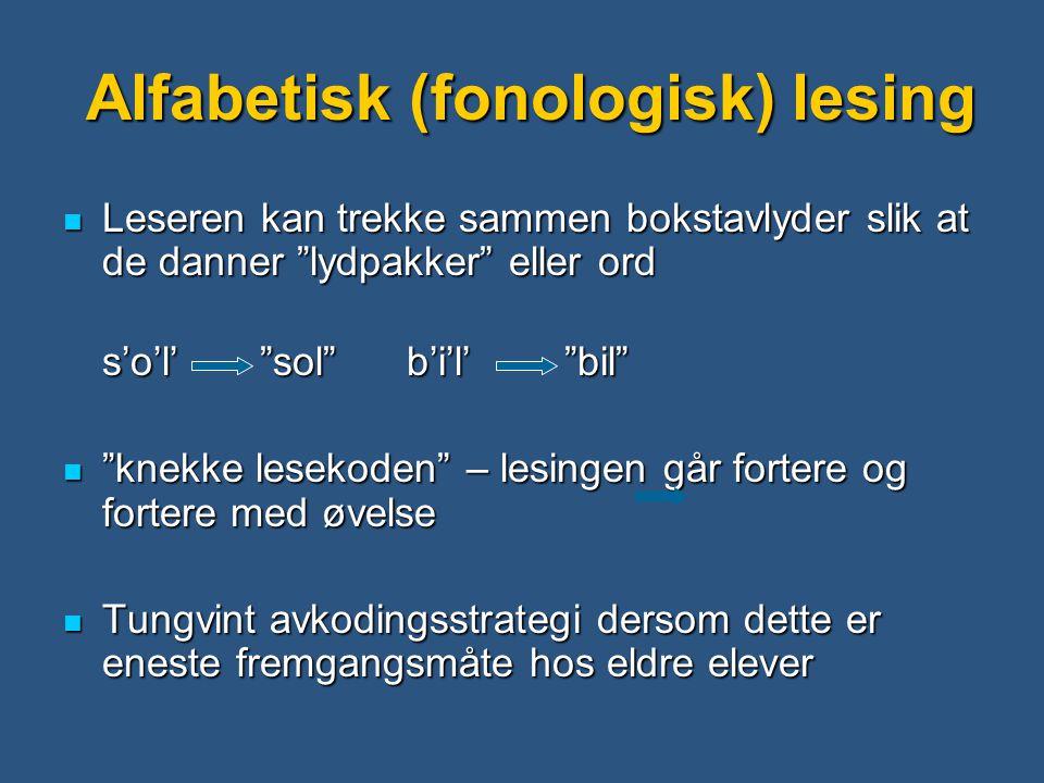 Alfabetisk (fonologisk) lesing