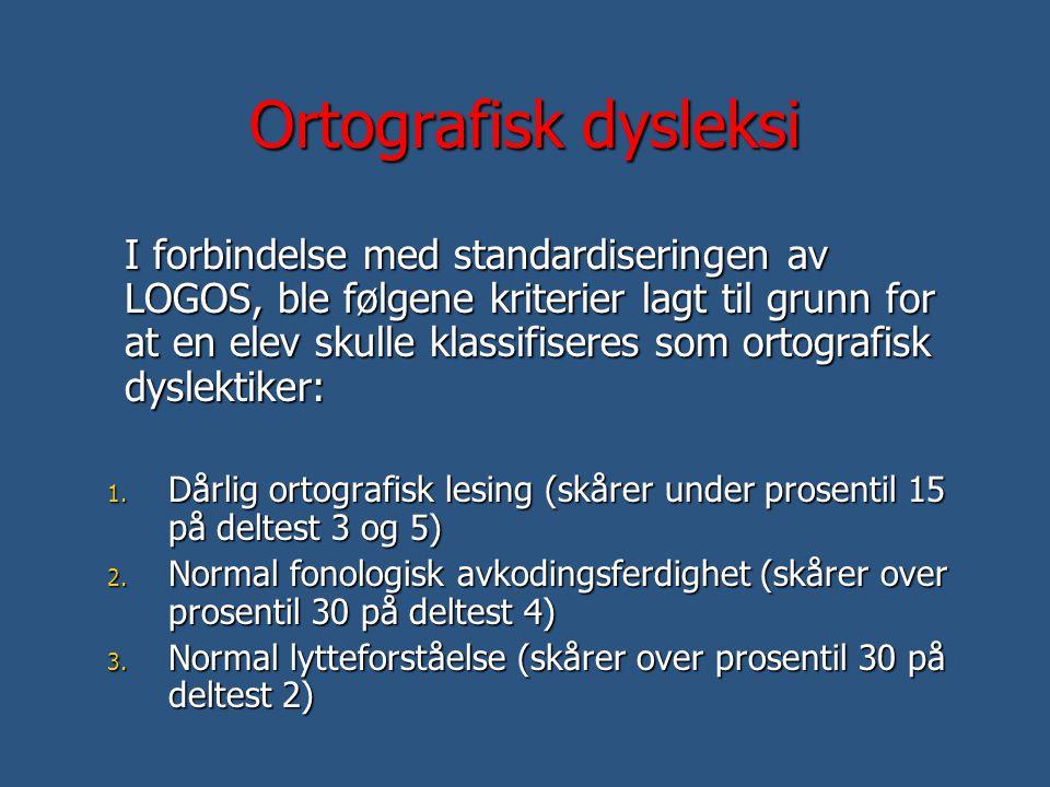 Ortografisk dysleksi