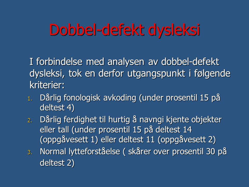 Dobbel-defekt dysleksi