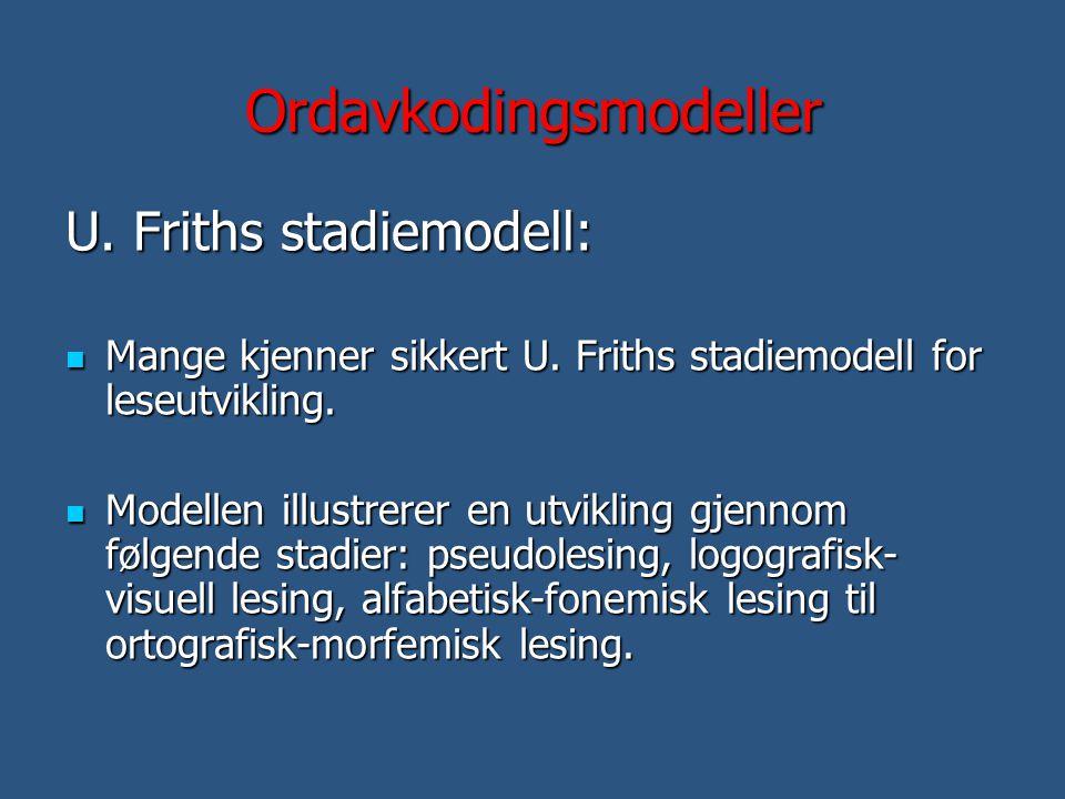 Ordavkodingsmodeller