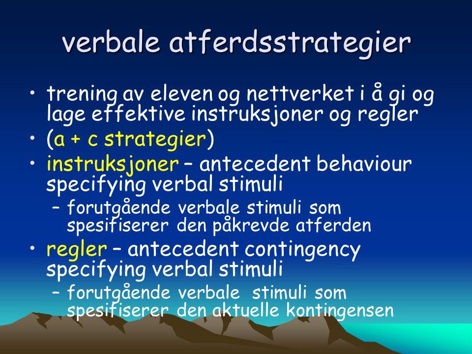 verbale atferdsstrategier