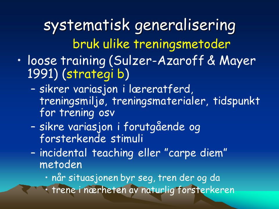 systematisk generalisering