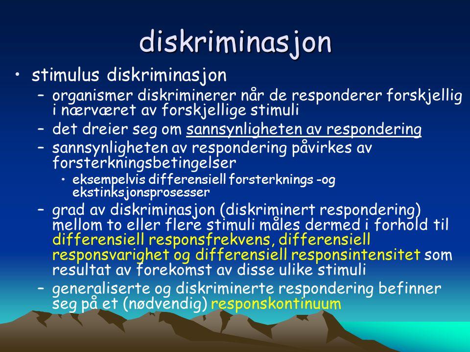 diskriminasjon stimulus diskriminasjon