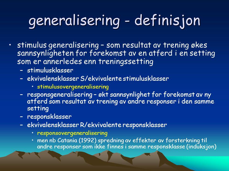 generalisering - definisjon