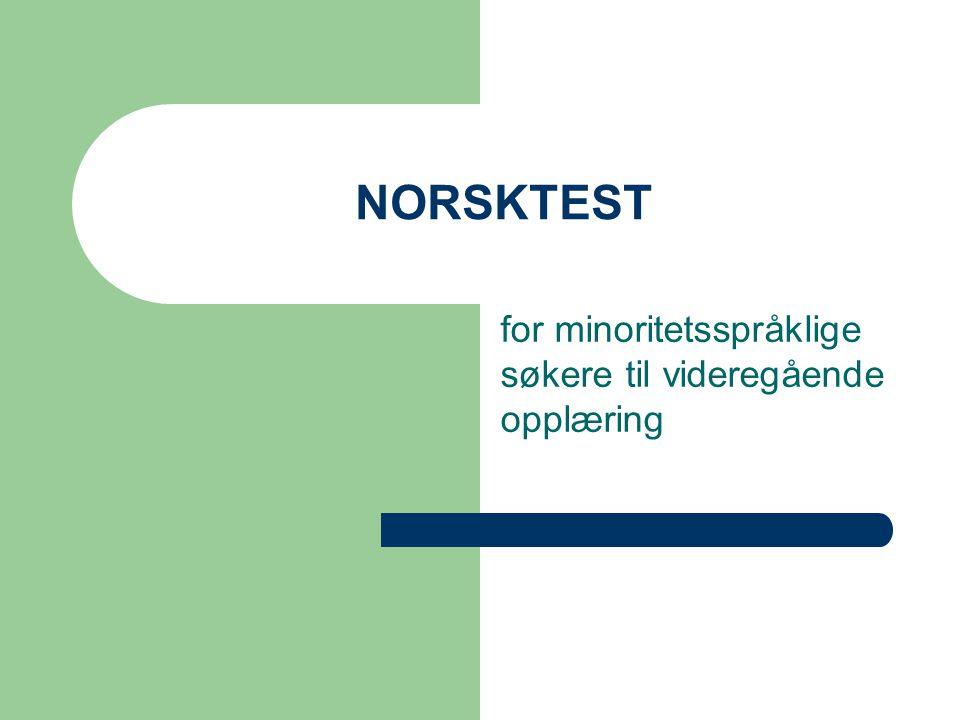 for minoritetsspråklige søkere til videregående opplæring