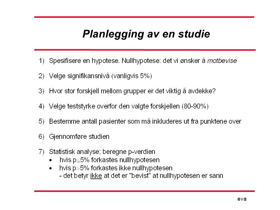 Planlegging av en studie