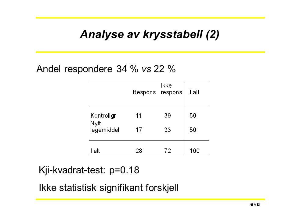 Analyse av krysstabell (2)