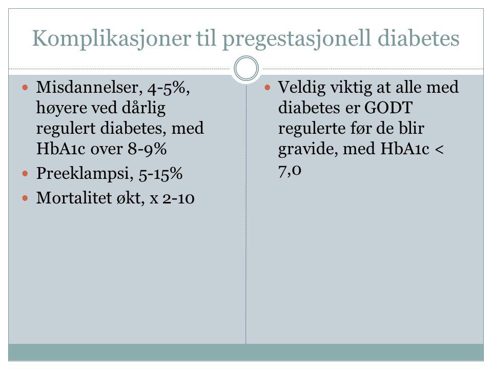 Komplikasjoner til pregestasjonell diabetes