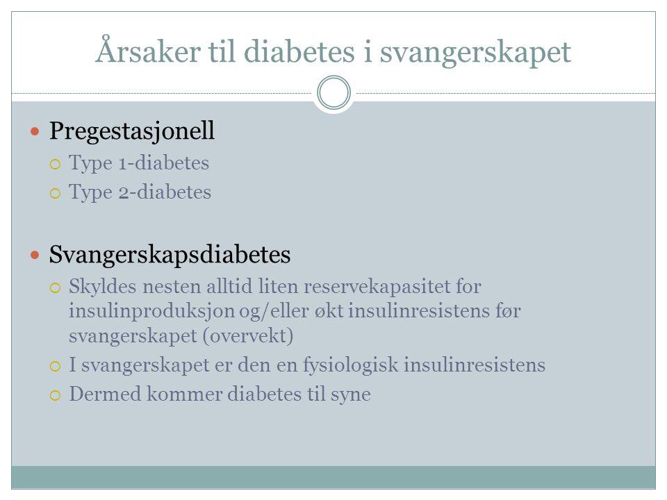 Årsaker til diabetes i svangerskapet