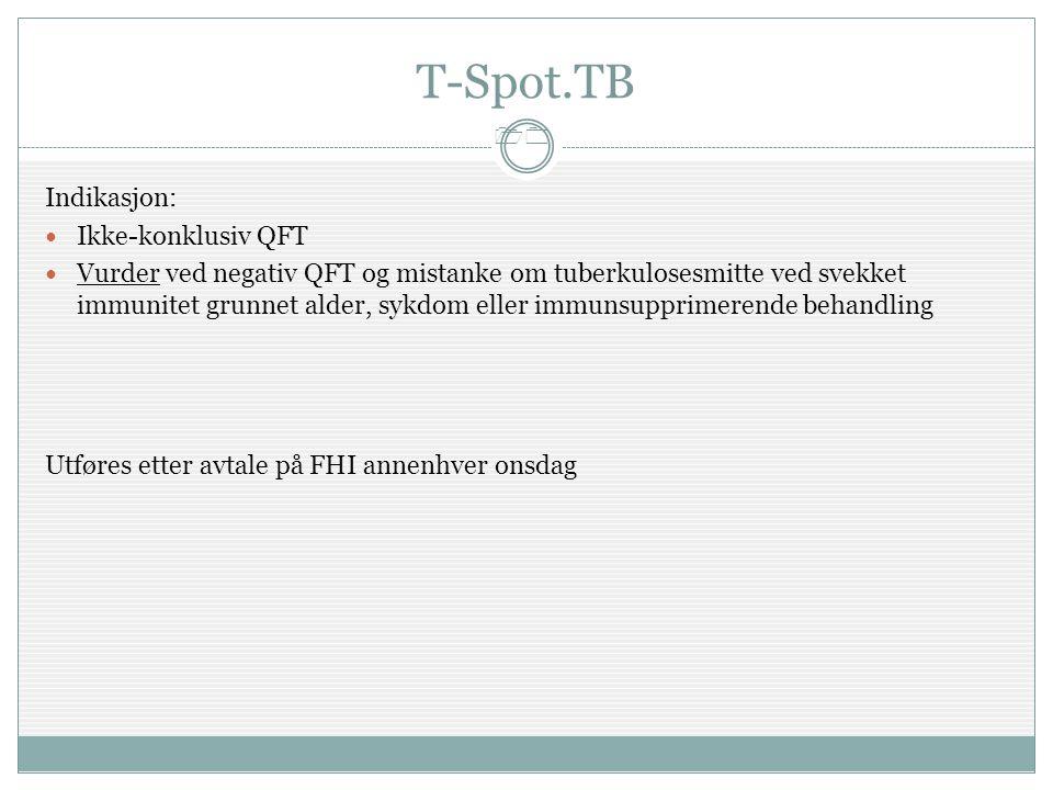 T-Spot.TB Indikasjon: Ikke-konklusiv QFT