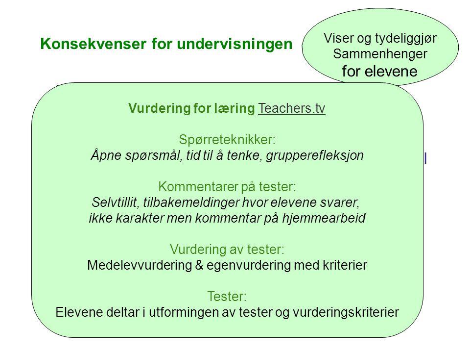 Konsekvenser for undervisningen