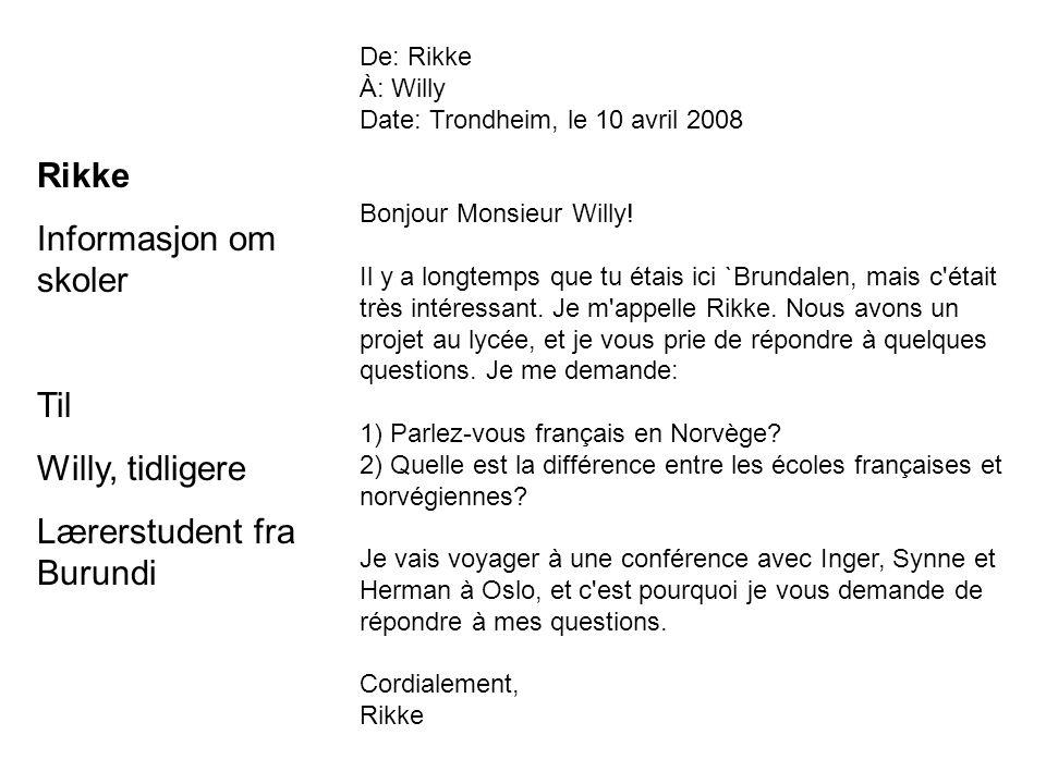 Lærerstudent fra Burundi