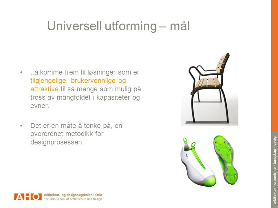 Universell utforming – mål