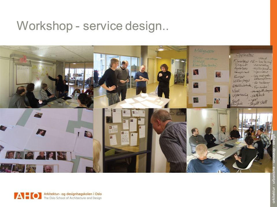 Workshop - service design..