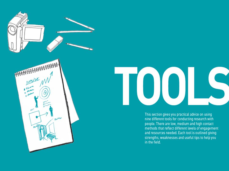 The book also has a tools section, giving you what you need to get started