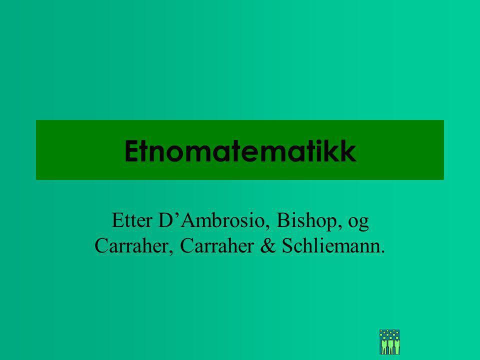 Etter D'Ambrosio, Bishop, og Carraher, Carraher & Schliemann.