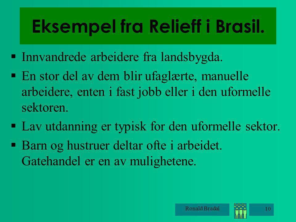 Eksempel fra Relieff i Brasil.