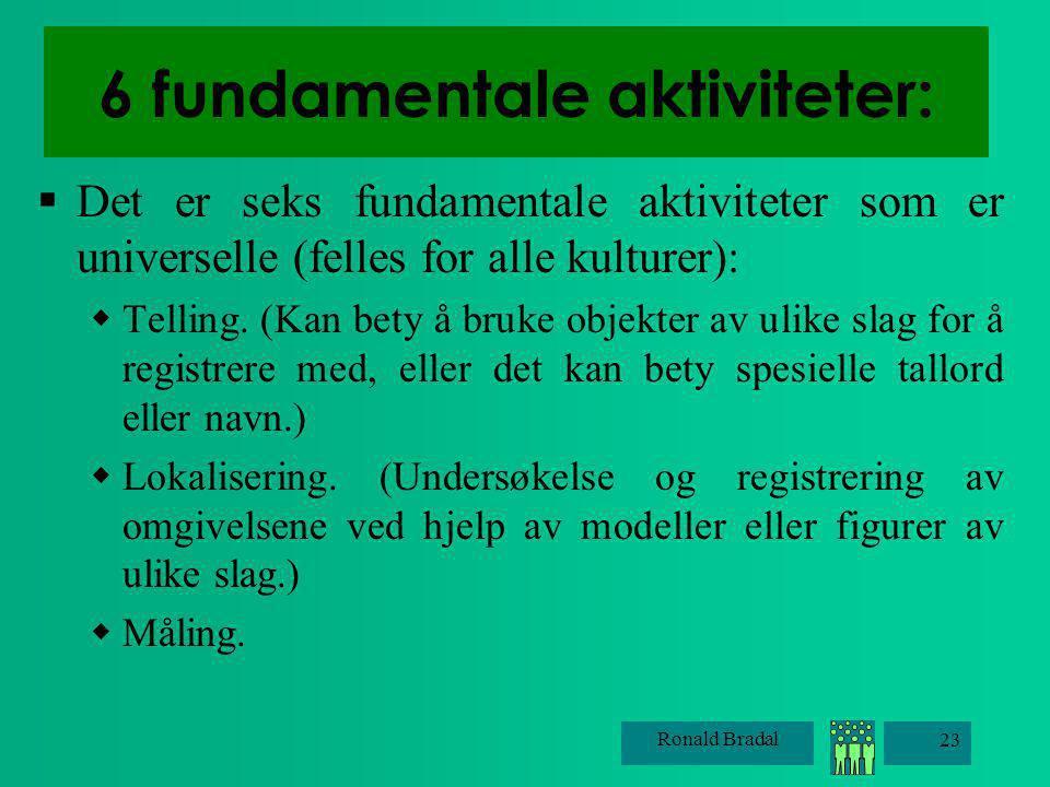 6 fundamentale aktiviteter: