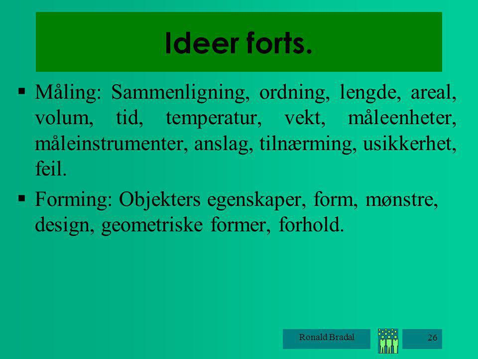 Ideer forts.