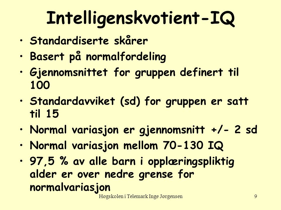 Intelligenskvotient-IQ