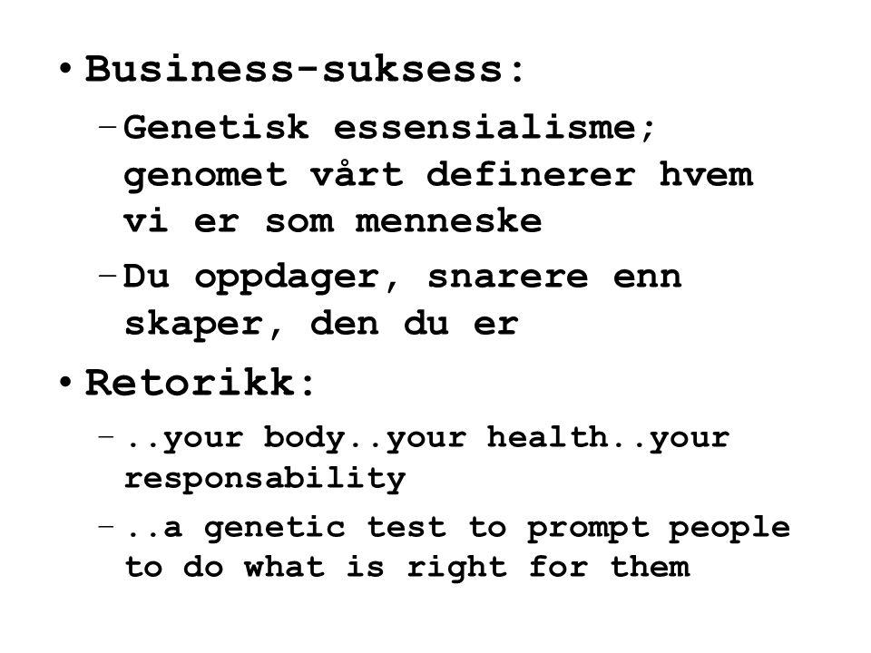 Business-suksess: Retorikk: