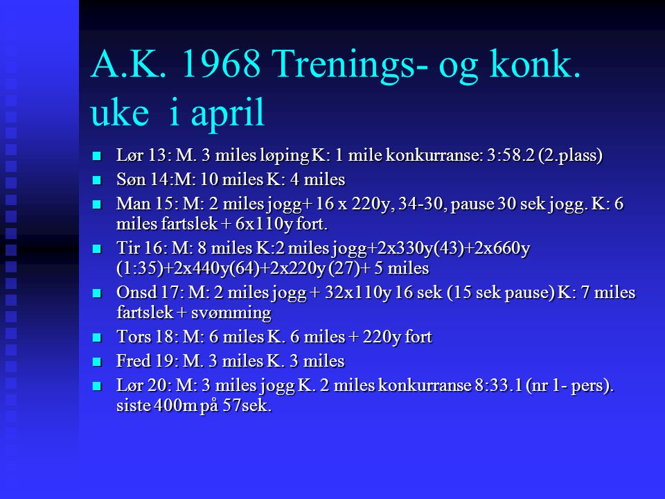 A.K Trenings- og konk. uke i april