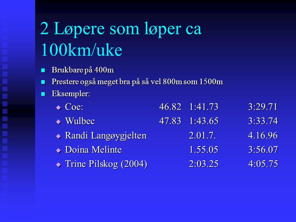 2 Løpere som løper ca 100km/uke