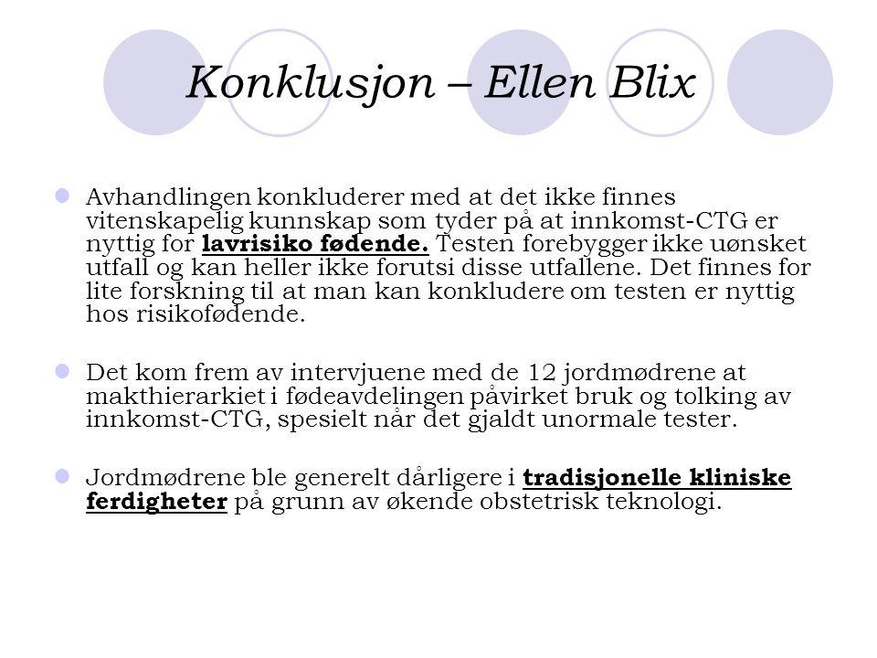 Konklusjon – Ellen Blix