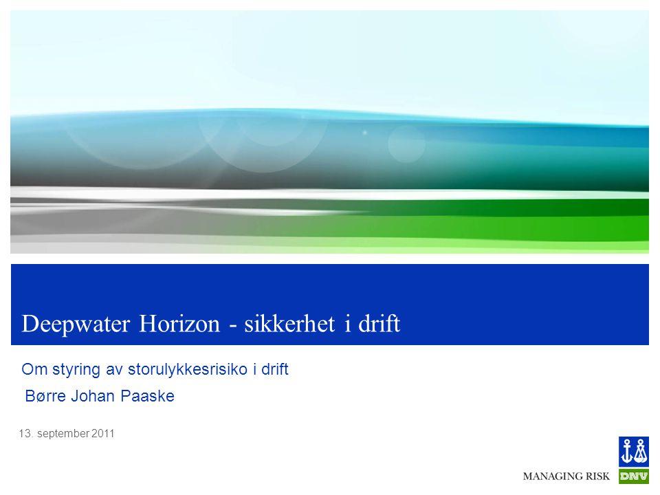Deepwater Horizon - sikkerhet i drift