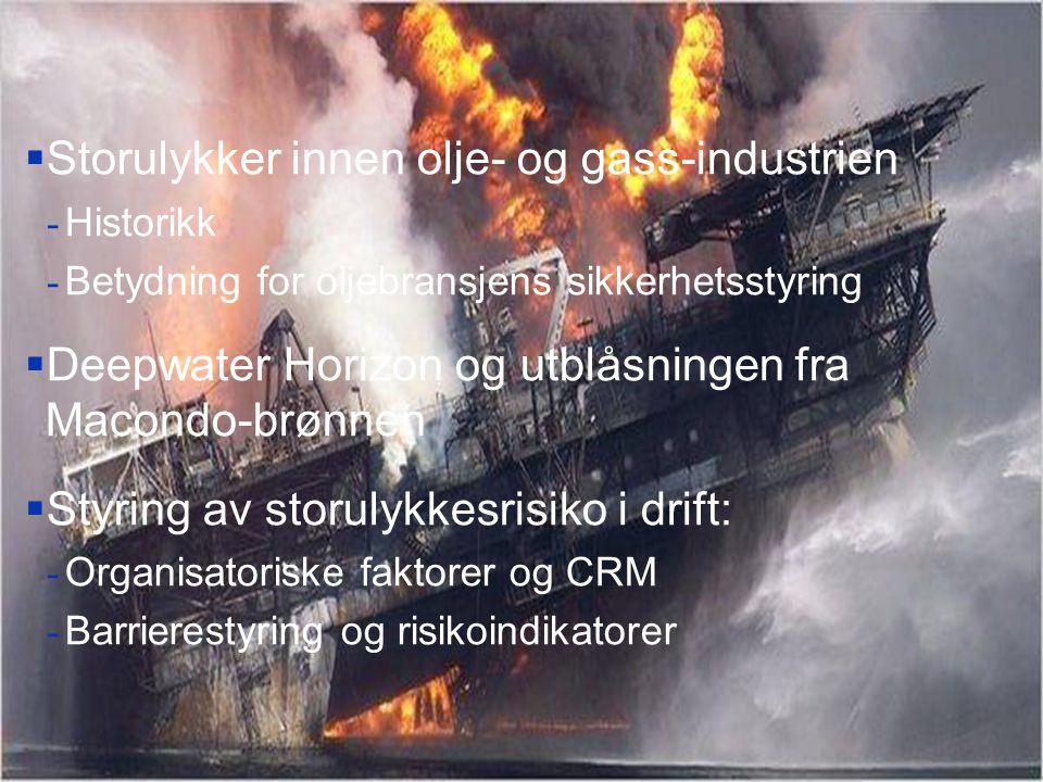Storulykker innen olje- og gass-industrien