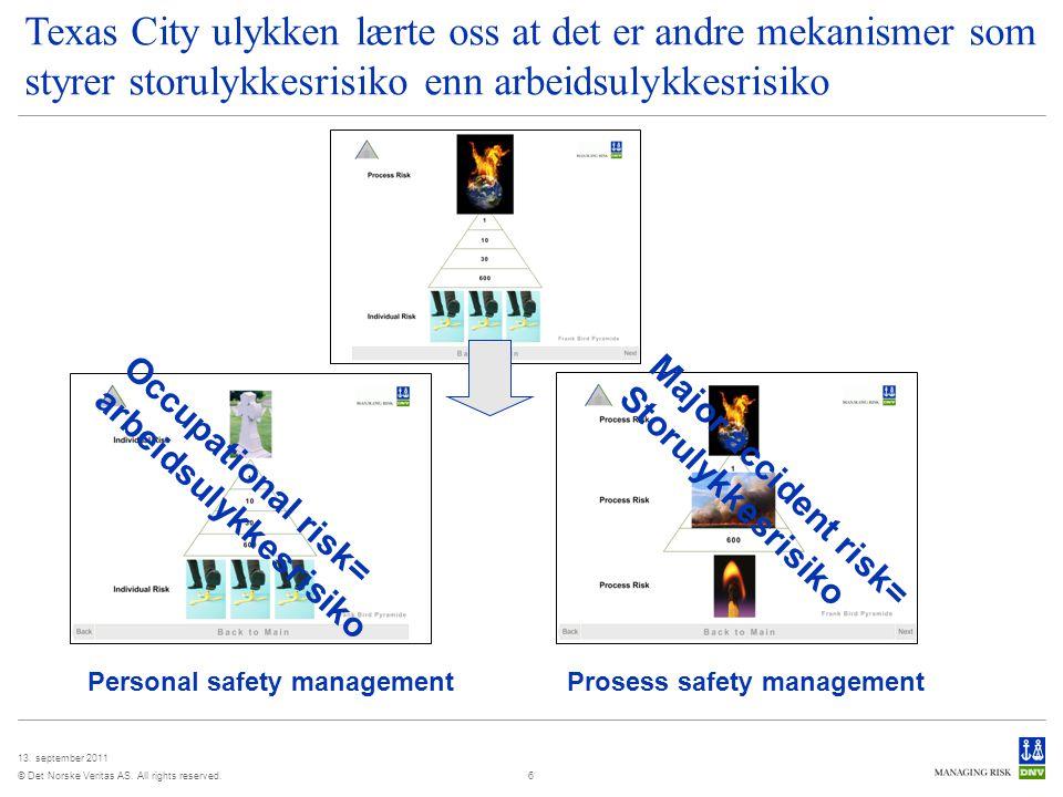 03 April 2017 Texas City ulykken lærte oss at det er andre mekanismer som styrer storulykkesrisiko enn arbeidsulykkesrisiko.