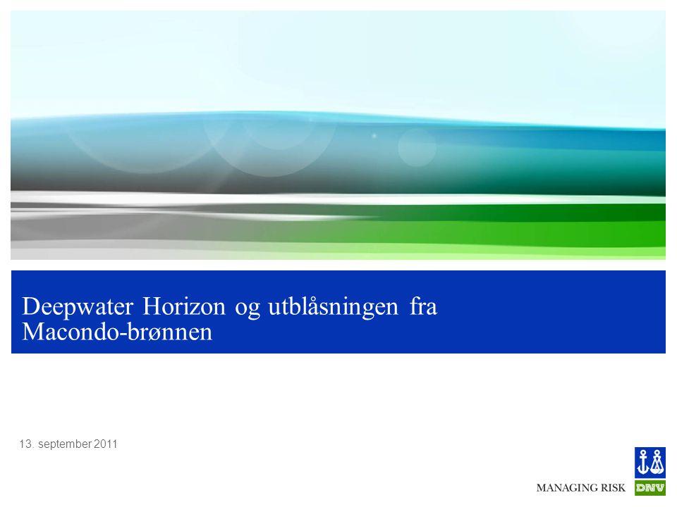 Deepwater Horizon og utblåsningen fra Macondo-brønnen